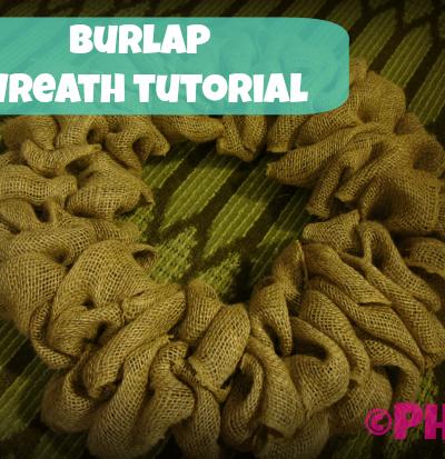 {How-to) Burlap Wreath