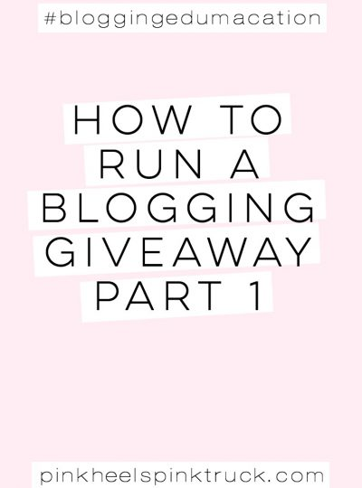 Are you ready to host your first blog giveaway? Did you know there are rules and laws you HAVE to follow? Check out Part 1 to running a successful blog giveaway!