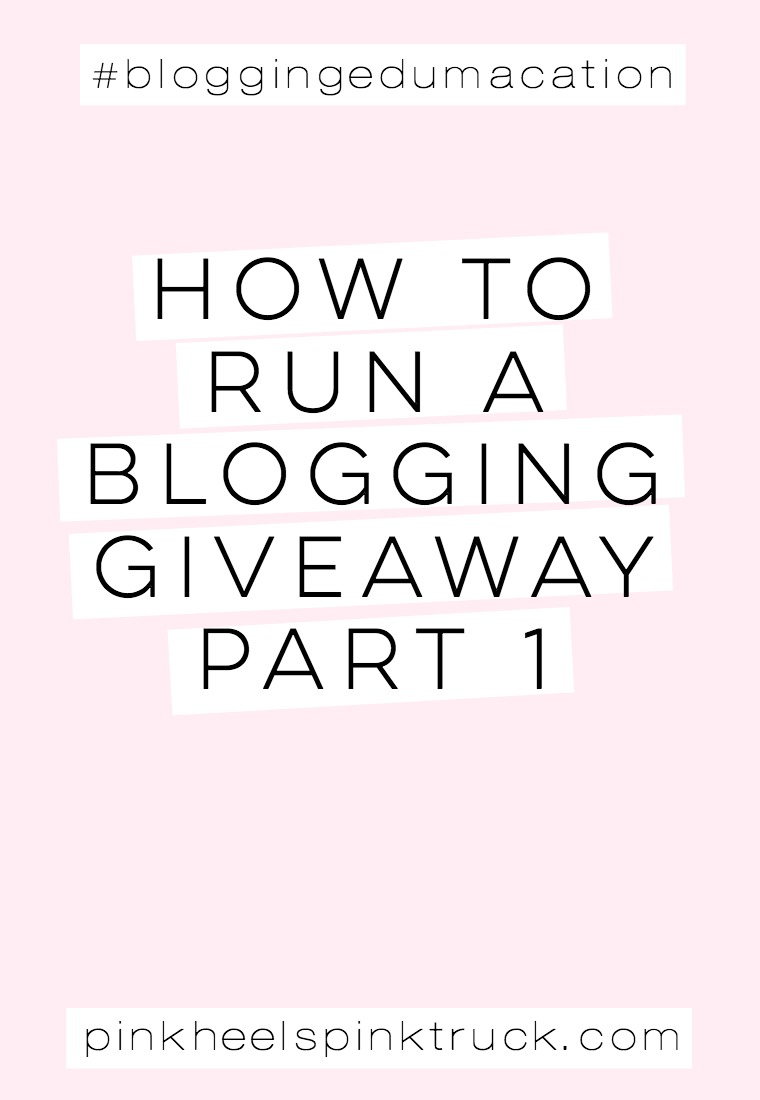 Blog giveaways with low entries