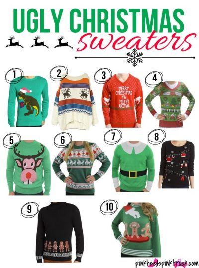 Do you have an Ugly Christmas Sweater Party to attend this year? Start shopping now to find the perfect UGLY sweater!