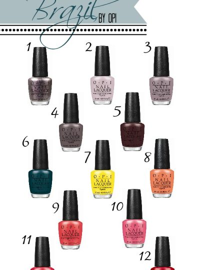 Brazil Collection by OPI Spring/Summer 2014