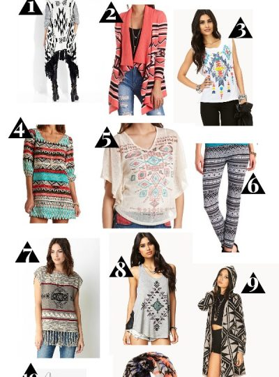 Fashion Trend - Tribal Prints, Aztec Prints, Southwestern Prints