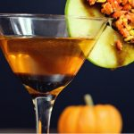 The perfect Fall cocktail! A Caramel Apple Candy Corn Martini