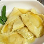 Pumpkin & Sage Ravioli with a White Wine Butter Sauce