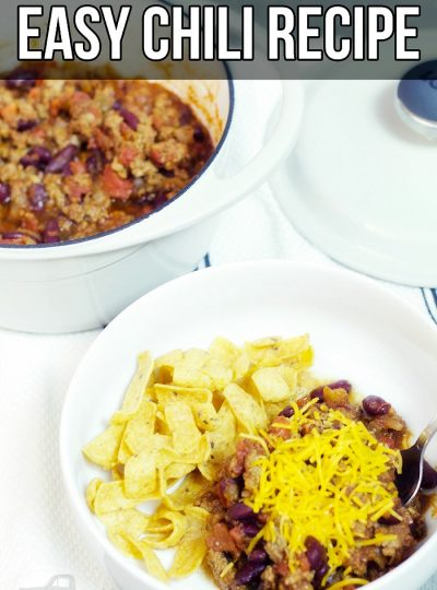 When the weather starts dropping, the first dish I go-to is this easy chili recipe. Super simple yet oh so yummy!!