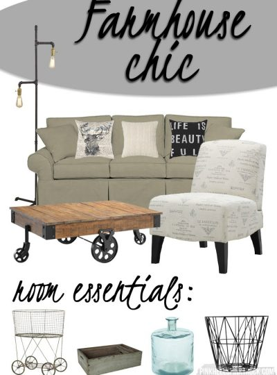 HOME: Farmhouse Chic Living Room