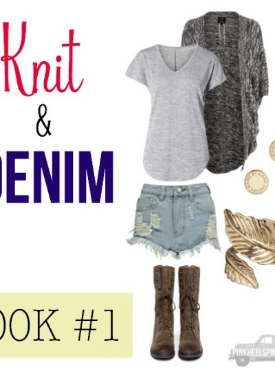 FALL FASHION: Knit & Denim Look #1