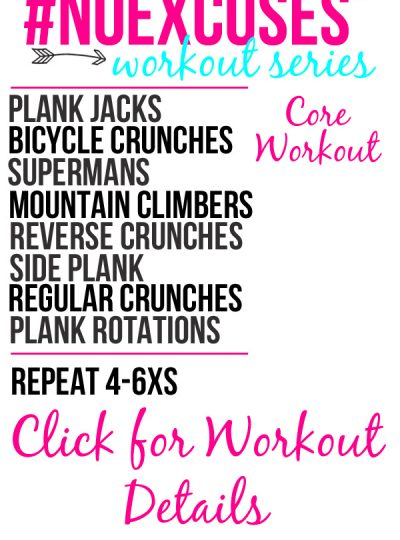 Needing a new Core Workout routine? Check out this #NOEXCUSES Core Workout!!