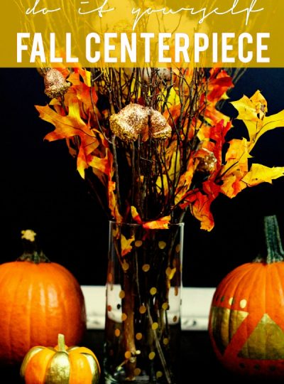 This super simple DIY Fall Centerpiece will be the perfect addition to your Fall decor.