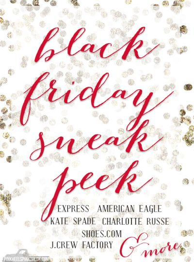 Check out this Sneak Peak of Black Friday Sales!