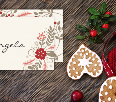 These Holiday Placecards from Hooplah House Creative would be the perfect addition to your festive holiday table! Download today!
