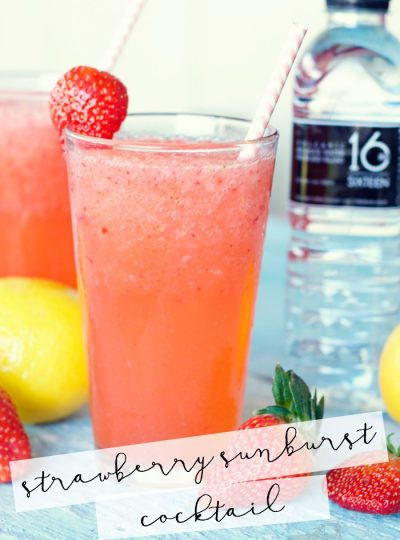 Looking for a bright and refreshing cocktail? You've got to try this Strawberry Sunburst Cocktail!