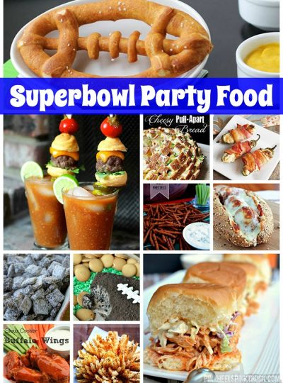 Need some party food ideas for the Super Bowl? I've got you covered! Check out this amazing list of Superbowl Party Foods!