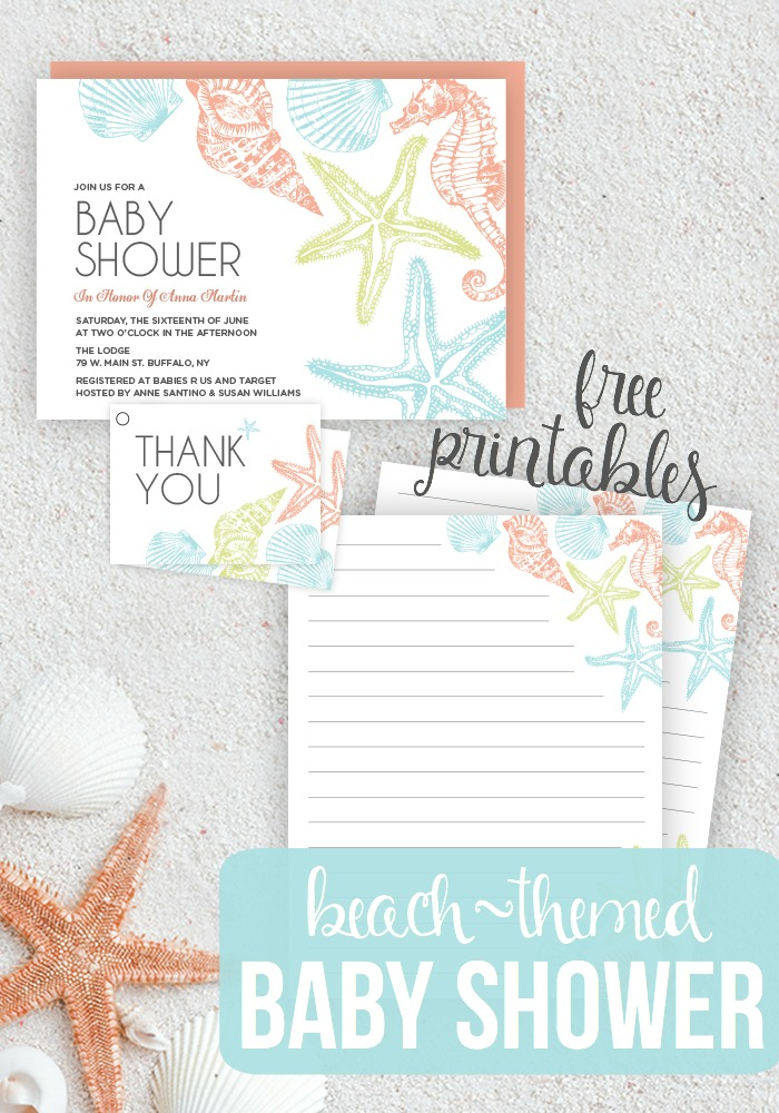 Beach Themed Baby Shower - Seaside Baby Shower Printables • Taylor ...