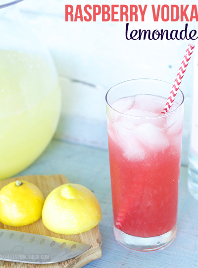 Loving this Raspberry Vodka Lemonade! It's the perfect springtime cocktail! Skip the vodka and make it a mocktail!!
