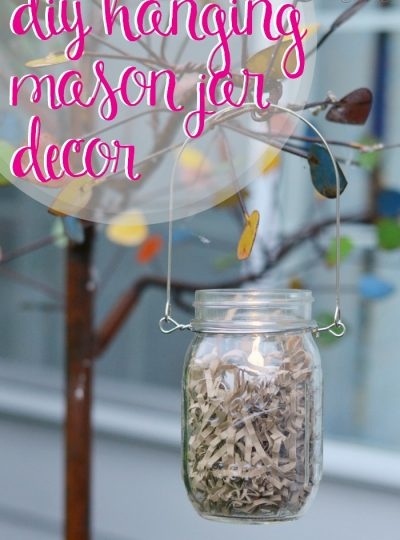 If you are obsessed with anything mason jar then you are going to love this simple DIY! Perfect for a backyard soiree!! Make your own DIY Hanging Mason Jar Decor!