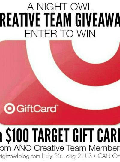 Enter for a chance to win a Target Giftcard! Giveaway ends Sunday, August 2nd, 2015