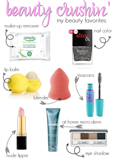 Beauty Crushin - Sharing My Beauty Favorites including products from Simple, Maybelline, Revlon, Ulta, Clinique and Bliss!