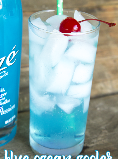 Cocktails: Sunrise Cooler & Blue Ocean Cooler featuring Alizé