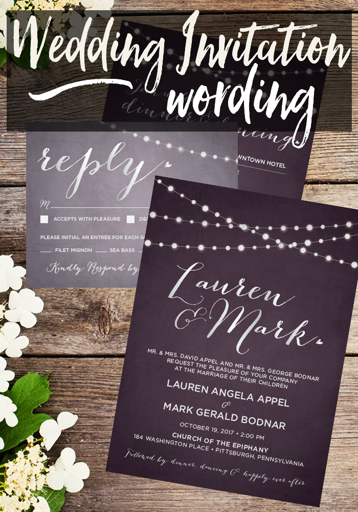 Wedding invitation wording taylor bradford wedding invitation wording filmwisefo