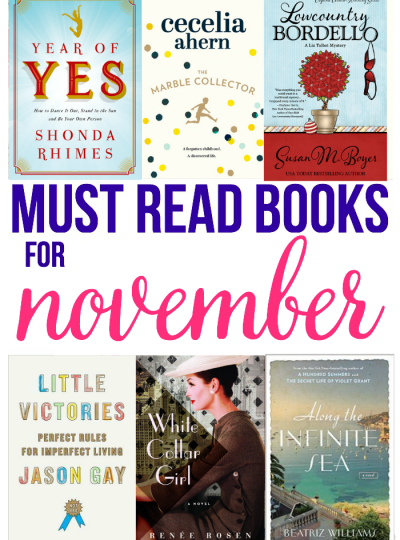 Looking for a new book to pick up? Check out my Must Read Books for November. A little mystery, a little comedy, a little drama, a little history and more!