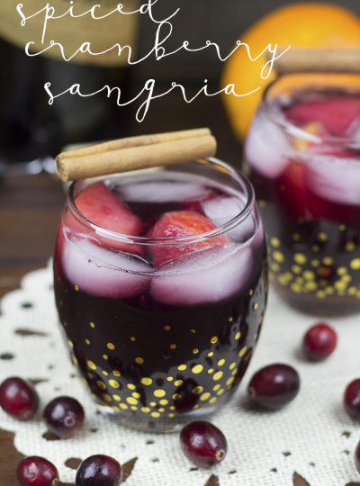 Want a great winter sangria recipe?? How about this Spiced Cranberry version?? Check out my Spiced Cranberry Sangria recipe!