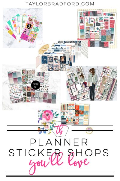 Looking for some new stickers for your planner? Check out some of my favorite planner sticker shops on Etsy!