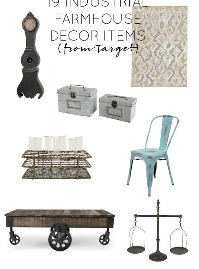 19 Industrial Farmhouse Decor Items I Want from Target