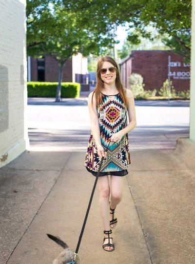 Aztec Print Shift Dress #TargetStyle