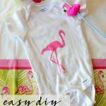 This is the perfect baby shower or birthday gift!! An easy DIY Painted Flamingo Onesie