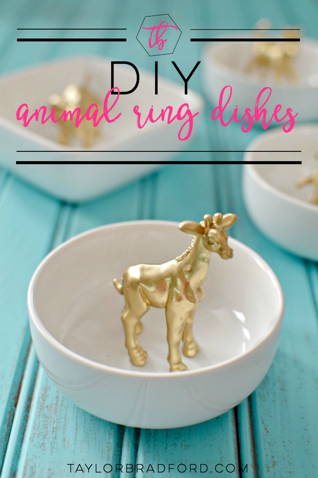 Craft gold animal ring dishes taylor bradford want a cute dish to display your rings how cute are these diy gold animal solutioingenieria