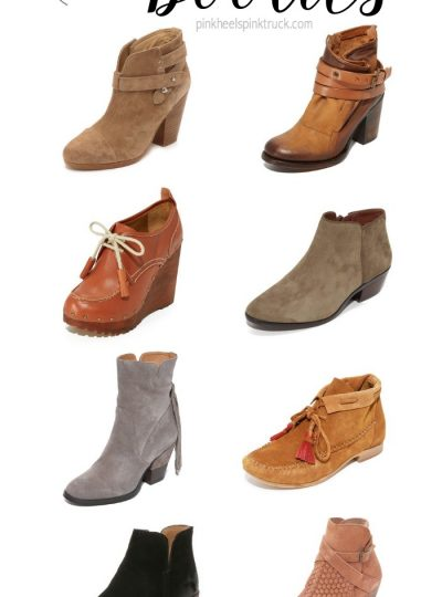 Looking for some new fall booties to add to your closet?? I've rounded up 8 fall booties that I'm currently crushing on!
