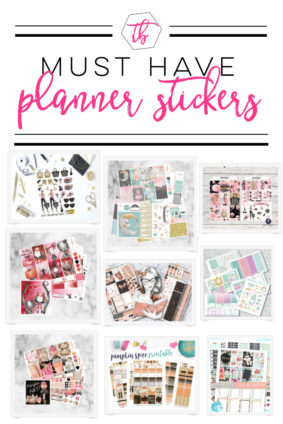 Where are my Planner Addicts?! I've got some new Planner stickers that I'm totally crushing on that I think you'll like too!