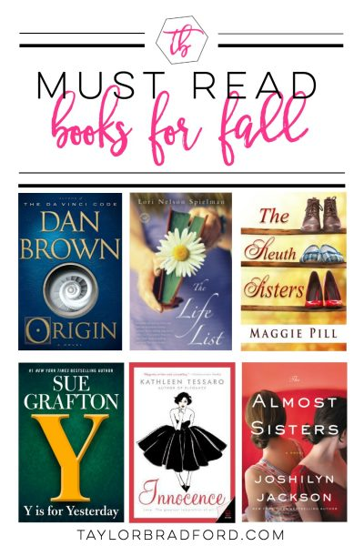 MUST READ BOOKS FOR FALL 2017