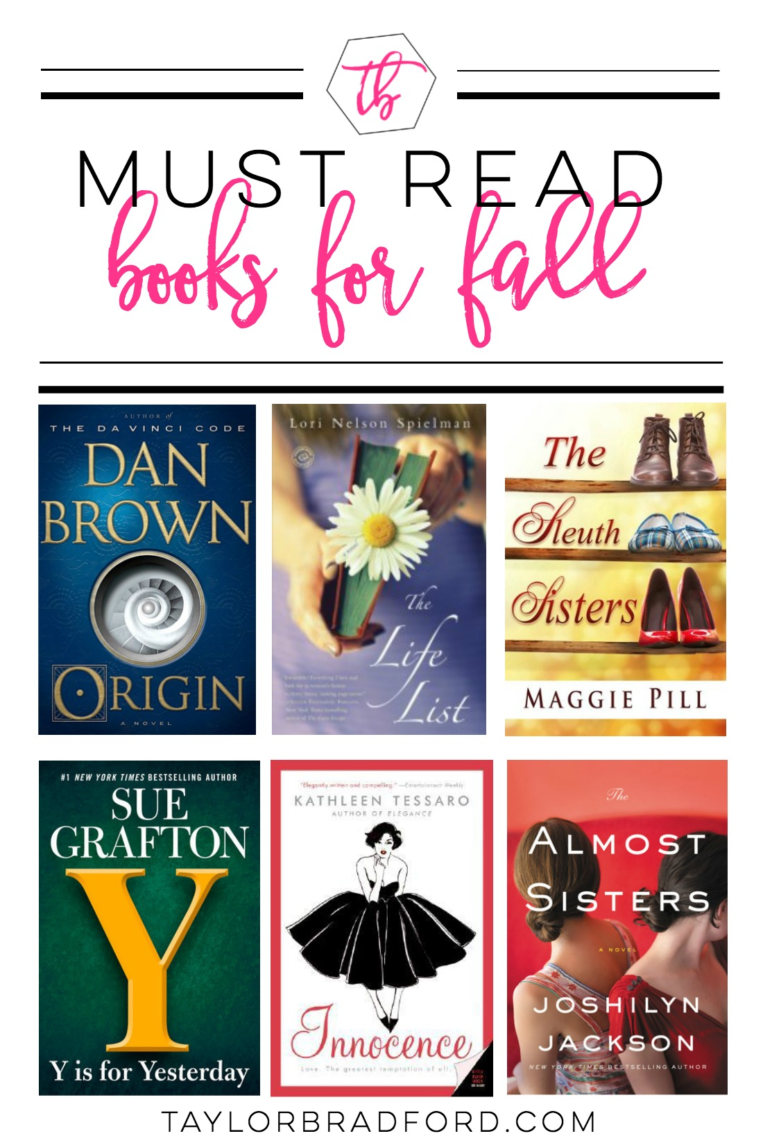 Looking for a new book to read this fall season? Check out my Must Read Books for Fall list!! (2017)