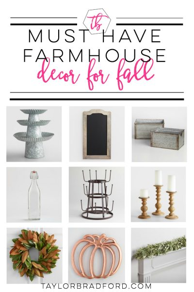 Love Farmhouse Decor?? Looking to update your home for fall? Check out these must haves for farmhouse decor for fall!