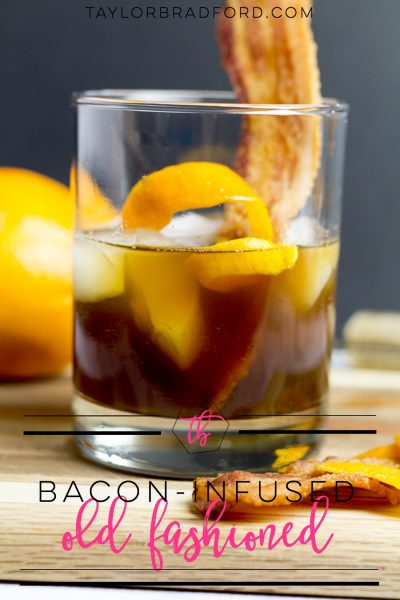 Bacon-Infused Old Fashioned Cocktail
