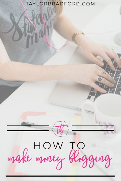 How to make money blogging from the moment you launch your blog! #blogging #makemoneyblogging #howtomakemoneyblogging