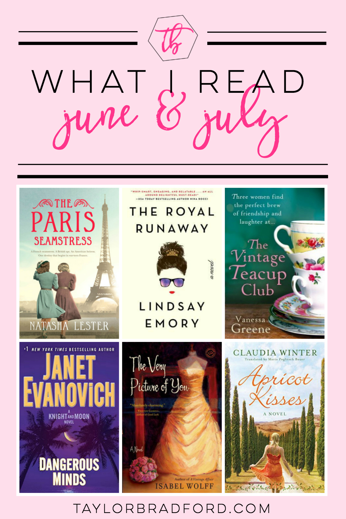Looking for something to read? Take a peek at what I read over the last 2 months. A little bit of everything between classic chick lit to historical fiction, you're sure to find something to add to your TBR list!